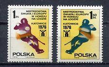 35903) POLAND 1976 MNH** Ice hockey championship 2v