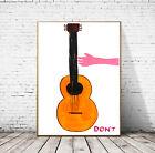 David Shrigley - Don't, Giclee Reprint Wall Art Poster Print Guitar Various Szs