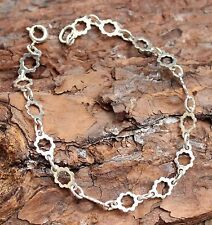 Vintage Silver Sterling 925 Bracelet Bangle Old Jewellery Jewelry Small Ladies