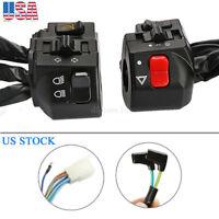 "2x Motorcycle 7/8"" Handlebar Headlight Horn Turn Signal Electrical Start Switch"
