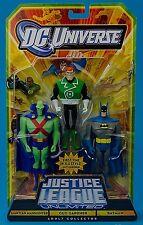 "DC Universe_JusticeLeagueUnlimited_MARTIAN MANHUNTER_GUY GARDNER_BATMAN 4"" figs."