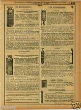 1921 PAPER AD Boyce Pyrene Guardene Fire Extinguisher