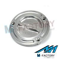 Billet Silver Keyless Fuel Gas Cap Fit SS750 Monster 600 S2R 750 ST3 ST4 748 851