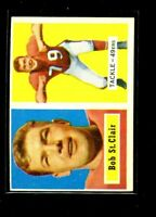 1957 TOPPS #18 BOB ST CLAIR 49ERS EXMINT D026627