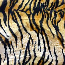 "Siberian Tiger Print Velboa Faux Fur Fabric - BTY - 58"" / 60 """