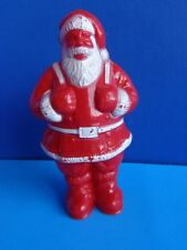 VINTAGE HARD PLASTIC SANTA CHRISTMAS CANDY CONTAINER- IRWIN 1950s
