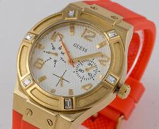 GUESS Damen Uhr Kautschukband orange sehr leicht NEU W0564L2 G3