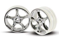 """Traxxas 2473 2.2"""" Bandit Front Tracer Buggy Wheels (2) (Chrome)"""