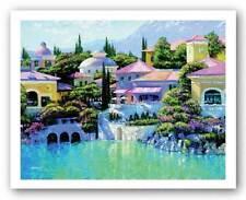 ITALIAN ART PRINT Lago Bellagio Howard Behrens