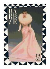 1961 Vintage Barbie in Pink Dress DIGITAL Counted Cross-Stitch Pattern Chart