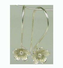 6pcs  Flower floral 925 solid bright  Sterling Silver Earring EAR WIRE Hook E17