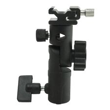 "Metal STUDIO BRACKET umbrella holder Flash shoe clamp + 1/4""  3/8"" adapter"
