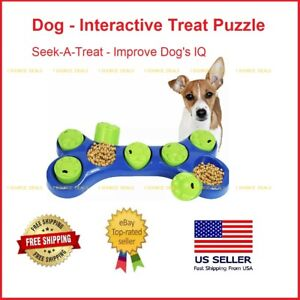 Dog Interactive Treat Puzzle Pet Toy Seek-A-Treat Increase Pet IQ Free Shipping