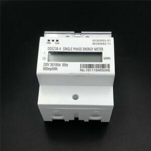DDS238-4 230V 30(100)A 50H LCD Single Phase DIN Rail kilowatt-hour Energy Meter