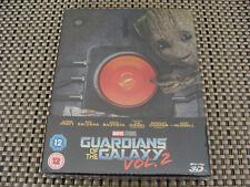 Guardians of The Galaxy Vol 2 2d / 3d Blu Ray Steelbook UK Marvel