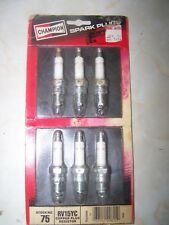 vintage 1984 CHAMPION SPARK PLUGS unopened dirty pkg