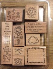 Stampin' Up! 9 Wooden Mounted Rubber Stamps Stamping You Are My Sunshine Friend