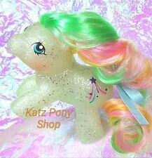 HQG1C Custom Vintage G1 MLP Style Rearing Baby Glitter Pony 🌟GLITTER WISHES 🌟
