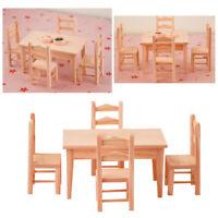 1:12 Échelle Maison De Poupées Meubles Miniature Table 4 Chaises Modèle