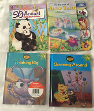 Bugs Life Thinking Big, Clowning Around, 50 Animals and Fairy Tales Book Lot Set