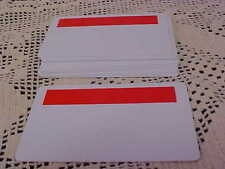 CR80 .30 Blank PVC Cards With Red Bleed Block 10 Total NEW