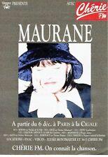 Publicité Advertising 057  1994  Maurane en concert la Cigale & radio Chérie fm