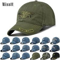 Men's Women Solid Plain Washed Cotton Polo Style Baseball Ball Cap Hat Visor USA