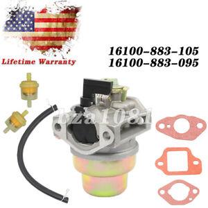 Carburetor For 16100-883-105 Honda G150 G200 Engine 16100-883-095 w/Fuel Line US