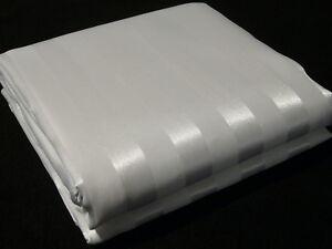 Duschvorhang Textil der Extraklasse 2White weiße Streifen matt und glänzend