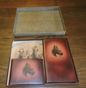 RARE - 1948 Wallet & Note Pad Gift Set - MAN O WAR - Horse Racing - RH PALENSKE