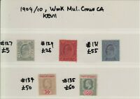 1904/10 Straits Settlements Stamps | KEVII | MH | Cat £196