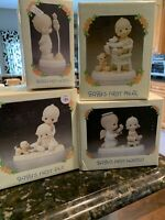 Lot of 4 Precious Moments Figurines:  Baby's First ~ Mint in the Boxes!