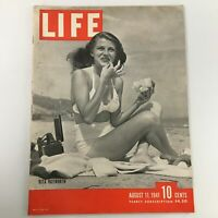 VTG Life Magazine August 11 1941 Rita Hayworth Cover Feature Newsstand