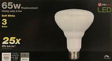3 UTILITECH 65-Watt Equivalent BR30 Soft White LED Flood Lights 120V -650 Lumens