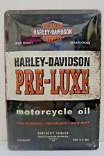 Tin Metal Embossed Sign HARLEY DAVIDSON MOTOR OIL 20x30CM Licensed