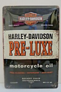 Tin Metal Embossed Sign HARLEY DAVIDSON MOTOR OIL 20x30CM Licensed
