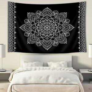 Psychedelic Mandala Flower Tapestry for Bedroom Living Room Dorm Decor
