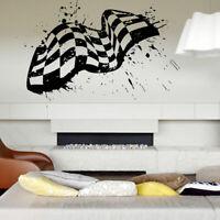 Wall Decal Room Sticker Racing Flag Formula 1 Speed road bedroom boys art bo2975
