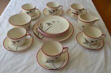 Vintage Crown Devon Copmere Flying Geese 21 Piece Tea Set