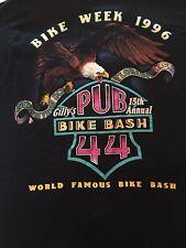 New listing Vintage Gilly's Pub 44 Bike Week 1996 Pocket T Shirt -Ss sz Large made Usa