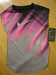 The Nike Tee athletic cut Dri-Fit for girls, sz 6X, pink/black, NWT