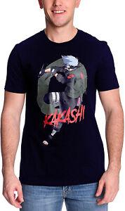 Naruto Shippuden Kakashi Licensed Anime Navy T-Shirt - Large - Free P+P