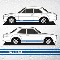Escort Mk1 Side Stripes - Classic FORD GT Style Decals Vinyl Graphics