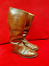 WW2 BRITISH ARMY OFFICERS HIGH FIELD BROWN LEATHER BOOTS ... ROYAL ARTILLERY