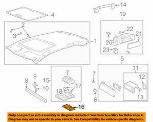 81265-50170 Toyota Lens, map lamp, no.1 8126550170, New Genuine OEM Part