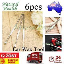 6pcs Steel Silver Ear Pick Curette Wax Cleaner Removal Earpick Health Stick Tool