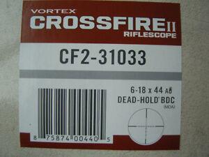 Vortex Optics CF2-31033 Crossfire II 6-18x44mm Rifle Scope - Black Free Shipping