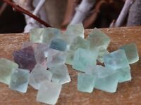 10 x Fluorite Octahedrons Crystals Green - Omni New Age