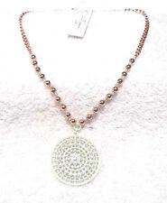 Jessica Simpson White/Copper Bead Necklace