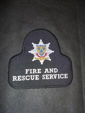 Shropshire Fire and Rescue Cloth Uniform Patch Badge (B)